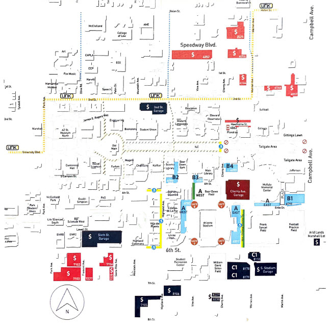 2021 Parking Guide Map Image
