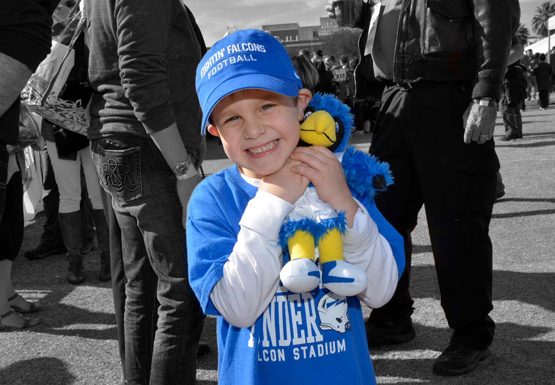 Young Air Force Academy Football Fan Image