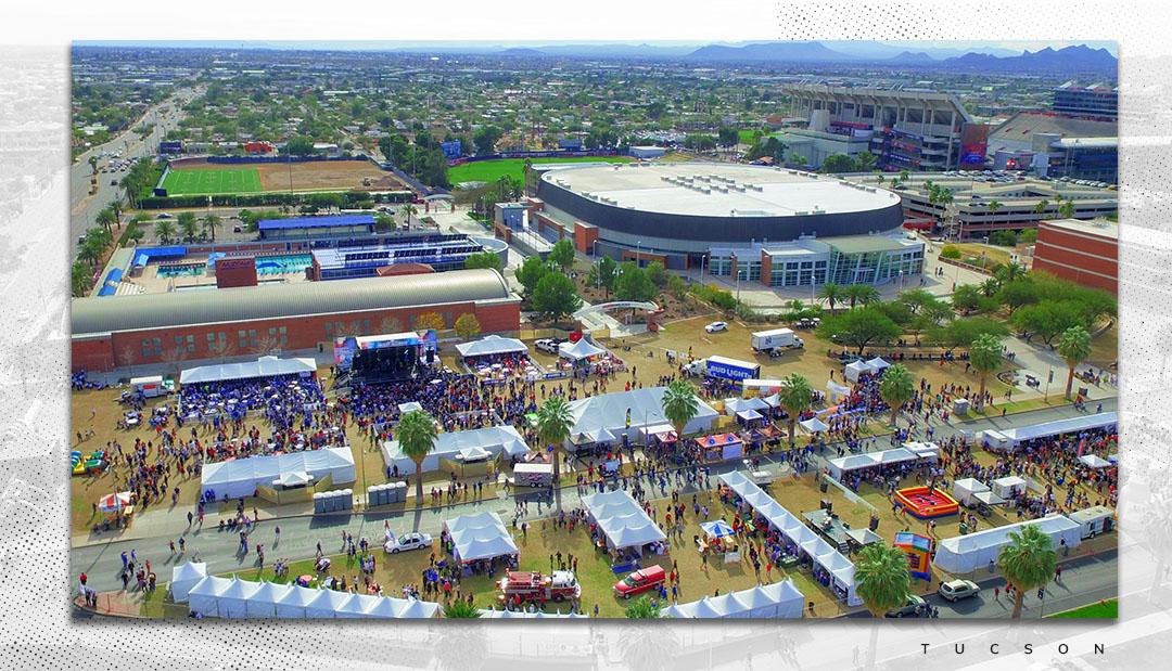 Aerial View of University of Arizona Campus Image